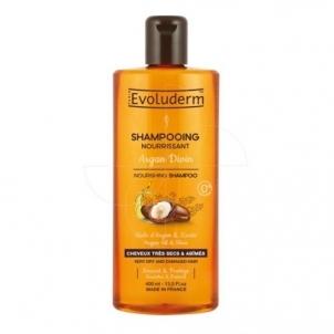 Plaukų šampūnas Evoluderm Nourishing (Nourishing Shampoo Argan Divin) Shampoo for Very Dry and Damaged Hair 400 ml Šampūnai plaukams