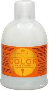 Plaukų šampūnas Kallos (Color Shampoo with Linseed Oil and UV filter)1000 ml