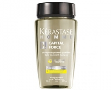 Plaukų šampūnas Kérastase Energizing Shampoo for men Homme Capital Force (Daily Treatment Shampoo Vita-Energising Effect) - 250 ml Šampūnai plaukams