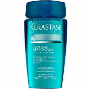 Plaukų šampūnas Kérastase Shampoo for sensitive scalps for normal to combination hair Bain Vital Dermo-Calm (Hypoallergenic Hydra-Soothing Shampoo) 1000 ml Šampūnai plaukams