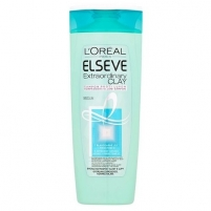 Plaukų šampūnas Loreal Paris Shampoo for Fast Ointment Hair with Elseve (Extraordinary Clay) 400 ml
