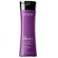 Plaukų šampūnas Revlon Professional Cream Keratin Shampoo Cream Shampoo for Damaged Hair Be Fabulous Hair Recovery 250 ml Šampūnai plaukams