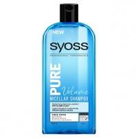 Plaukų šampūnas Syoss Micellar Shampoo Pure Volume (Micellar Shampoo) 500 ml Šampūnai plaukams