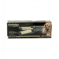 Plaukų žnyplės BABYLISS Hair Curler C260E Easy wave hair curling iron Ceramic heating system, Barrel diameter 15 mm, Temperature (min) 160 °C, Temperature (max) 200 °C, Number of heating levels 3, 60 W, Black, Yes, Yes Mati knaibles