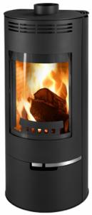 Plieninė krosnelė Thorma Andorra, juoda