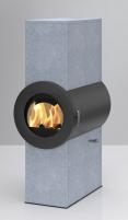 Plieninė krosnelė Thorma Dynamic Serpentino, su muilo akmens apdaila