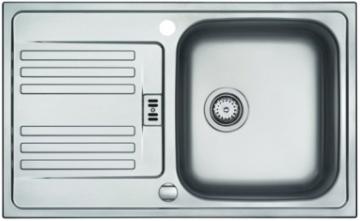 Plieninė plautuvė FRANKE EFL 614-78 su 2 skylėmis Nerudyjančio plieno virtuvės plautuvės