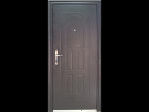 Plieninės durys PS22-27 860x65x2050, juodos matinės Metalinės durys