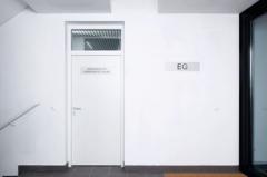 Tērauda durvis UT401 1000x2100, laba pusē, balts RAL 9035 Metāla durvis