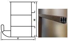 Plieninės įėjimo durys WIKED26 80 dešinios RFstakta Antracito sp. su TERMO stakta Metāla durvis