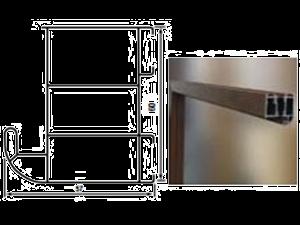 Plieninės įėjimo durys WIKED26 90 dešinios RFstakta Antracito sp. su TERMO stakta Metāla durvis