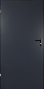 Plieninės techninės durys URAN 690x2090 dešininės/antracito sp(RAL7016) Metalinės durys