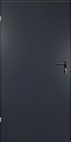 Plieninės techninės durys URAN 690x2090 (left hand)/antracito sp(RAL7016) Metal doors
