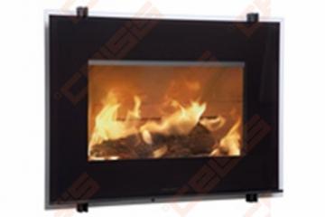 Plieninis židinio ugniakuras HWAM I 30/55 (841x619x470); 7kW Židiniai, pirties krosnelės