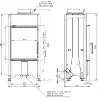 Plieninis židinio ugniakuras Romotop Dynamic D2L13 44.55.13