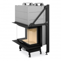 Plieninis židinio ugniakuras Romotop Heat HC3LH01+K1 65.52.31 su montavimo rėmu, lenktas stiklas
