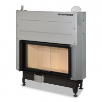 Plieninis židinio ugniakuras Romotop KV HEAT H3LF01 88.50.01 su pakeliamomis durimis.