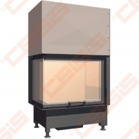 Plieninis židinio ugniakuras SCHMID EKKO L 67(45)45 H (730 x 1140 x 465); 3,4-9,8kW