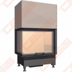 Plieninis židinio ugniakuras SCHMID EKKO L 67(45)51 H (730 x 1260 x 465); 3,4-9,8kW