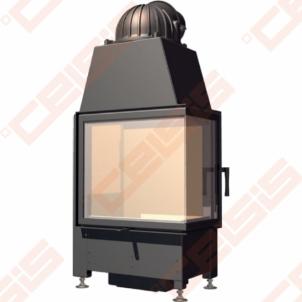 Plieninis židinio ugniakuras SCHMID EKKO R 55(34)51 S (610 x 1340 x 420); 2,4-5,3kW