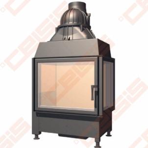 Plieninis židinio ugniakuras SCHMID EKKO R 67(45)45 S (715 x 1245 x 510); 3,4-9,8kW