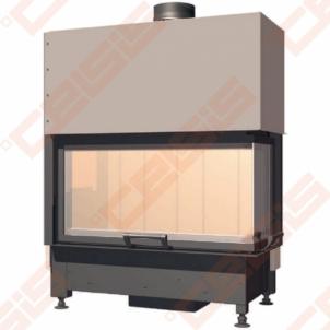 Plieninis židinio ugniakuras SCHMID EKKO R 84(34)51 H (900 x 1260 x 520); 4,2-9,2kW