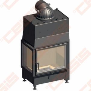 Plieninis židinio ugniakuras SCHMID EKKO W L 67(45)51 S (680 x 1433 x 460); 14,9kW; (šilumokaitis 7kW)