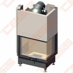 Plieninis židinio ugniakuras SCHMID EKKO W R 67(45)51 H (729 x 1433 x 509); 14,9kW; (šilumokaitis 7kW)