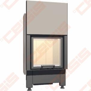 Plieninis židinio ugniakuras SCHMID LINA 5557 H (640 x 1380 x 520); 3,4-7,4kW