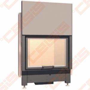 Plieninis židinio ugniakuras SCHMID LINA 8757 H (960 x 1280 x 520); 4,6-10,1kW