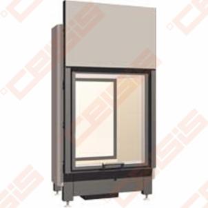 Plieninis židinio ugniakuras SCHMID LINA TV 12051 H (1290 x 1160 x 520); 4,9-10,6kW