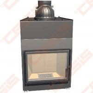 Plieninis židinio ugniakuras SCHMID LINA W 6751 S (750 x 1333 x 540); 14,5kW; (šilumokaitis 6-14,5kW) Židiniai, pirties krosnelės