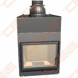 Plieninis židinio ugniakuras SCHMID LINA W 7363 S (810 x 1453 x 540); 14,9kW; (šilumokaitis 7,3-14,9kW)