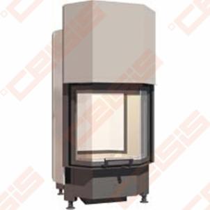 Plieninis židinio ugniakuras SCHMID PANO TV 5551 H (615 x 1260 x 510); 3,3-8,7kW Židiniai, pirties krosnelės