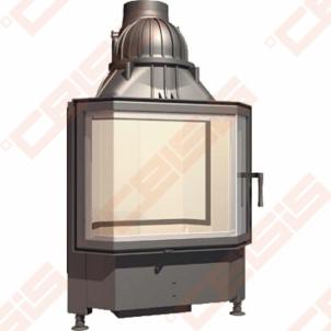 Plieninis židinio ugniakuras SCHMID PANO TV 6757 S (670 x 1215 x 545); 3,3-8,7kW
