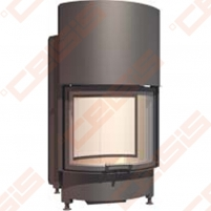 Plieninis židinio ugniakuras SCHMID RONDA TV 5545 H (595 x 1140 x 575); 3,3-8,7kW Židiniai, pirties krosnelės