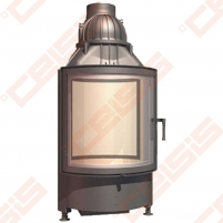 Plieninis židinio ugniakuras SCHMID RONDA TV 6745 S (670 x 1095 x 590); 3,3-8,7kW