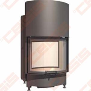 Plieninis židinio ugniakuras SCHMID RONDA TV 6751 H (725 x 1260 x 600); 3,3-8,7kW Židiniai, pirties krosnelės