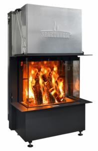 Plieninis židinio ugniakuras Spartherm Premium A-3RL-80h, d.200