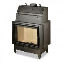 Plieninis židinio ugniakuras su šilumokaičiu ROMOTOP KV HEAT HW2Z01 70.50