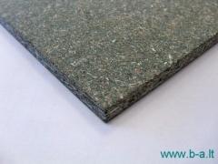 Wood panel chipboard DURELIS POPULAIR 1250x2500x18 mm., waterproof (3,125 kv. m) Wood chipboards (particle board)
