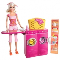 Plovykla Mattel T7182 / T8008 Barbie Fashionistas Spin To Clean Laundry Room