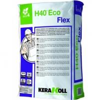 Adhesives for tiles H40 Eco Flex (Balti), 25 kg (prailgintu darbiniu laiku) Adhesives for tiles