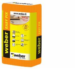 Adhesives for tiles Weber easy Fix C2TE S1 25kg.elastingi Adhesives for tiles