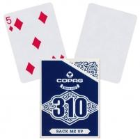 Pokerio kortos Copag 310 Back me Up (mėlynos)