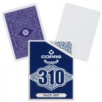Pokerio kortos Copag 310 Face Off (mėlyna)