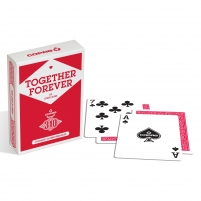 Pokerio kortos Copag 310 Together Forever (raudona)