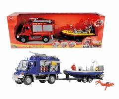 Policijos gelbėtojų automobilis su valtimi 50 cm   Dickie 3314867 P Toys for boys