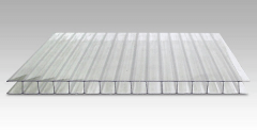 Polycarbonate plate 10x2100x3000 mm (6,3 m²) transparent Pvc and polycarbonate sheets