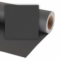 Popierinis fonas Colorama 1,35x11m Black Studijiniai priedai